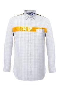 Хлопковая рубашка с декоративной отделкой Junya Watanabe 5895245