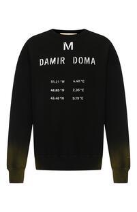 Хлопковый свитшот с принтом Damir Doma 5950993