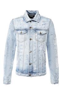 Джинсовая куртка на пуговицах с принтом Dom Rebel 5963516