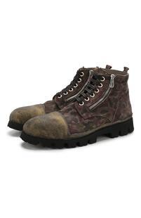 Замшевые ботинки на шнуровке Rocco P. 6038605