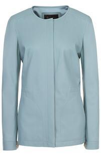 Кожаная куртка прямого кроя с круглым вырезом Loro Piana 1975624