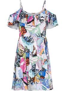 Платье с открытыми плечами bonprix 259952972