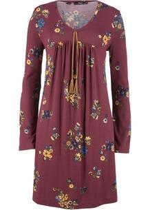 Платье с длинным рукавом, трикотаж с принтом bonprix 238437740