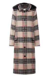 Шерстяное пальто свободного кроя с капюшоном WALK OF SHAME 5540870