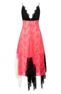 Кружевное платье-миди с оборками Christopher Kane 5700869