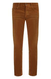 Хлопковые брюки прямого кроя Yves Saint Laurent 5178739