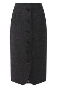 Шерстяная юбка-миди на пуговицах Thom Browne 4784002