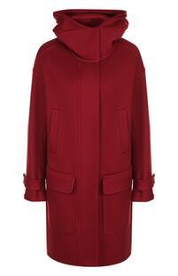 Кашемировое пальто с капюшоном и накладными карманами Loro Piana 4655832
