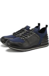 Кожаные кроссовки на шнуровке Tod's 4492991