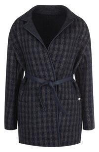 Кашемировое пальто с кожаной отделкой и поясом Loro Piana 4194861