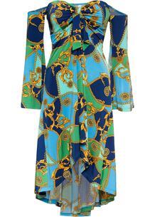 Платье бандо с принтом bonprix 259182143