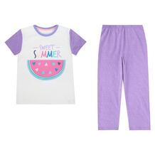 Пижама футболка/шорты Batik Настроение лето, цвет: сиреневый 10504631