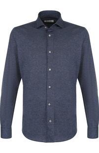 Рубашка из смеси шерсти и хлопка Loro Piana 3812990