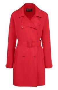 Однотонное пальто с поясом Loro Piana 4018146