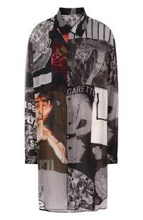 Удлиненная блуза свободного кроя с принтом Y3 3970854