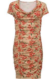 Платье облегающее с драпировкой bonprix 259092315