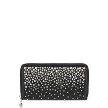 Кожаный кошелек на молнии с металлическими заклепками Alexander McQueen 3837595