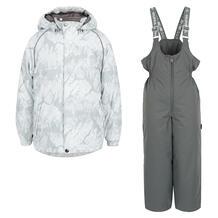 Комплект куртка/брюки Huppa, цвет: белый/серый 6175183