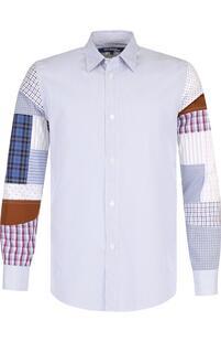 Хлопковая рубашка с отделкой Junya Watanabe 3181660