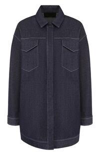 Джинсовая куртка свободного кроя с контрастной прострочкой Loro Piana 2946880