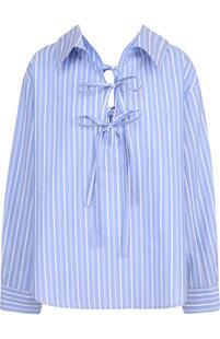 Блуза свободного кроя в полоску Clu 2773502