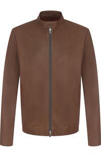 Кожаная куртка с воротником-стойкой Loro Piana 2720868