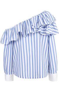 Блуза в полоску с открытым плечом Clu 2701843