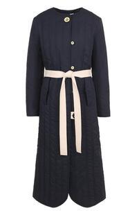 Пальто с круглым вырезом и контрастным поясом WALK OF SHAME 2645262
