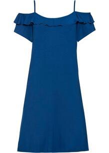 Платье трикотажное с воланами bonprix 258482346
