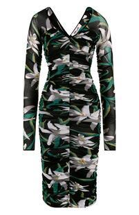 Драпированное платье-футляр с принтом DIANE von FURSTENBERG 2597870