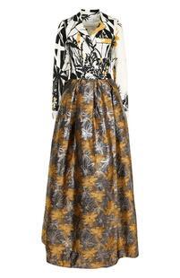 Приталенное платье-макси с принтом SARA ROKA 2469201