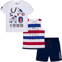 Комплект : футболка, майка и шорты Mayoral 10681443