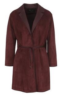 Замшевое пальто с кожаным ремнем Loro Piana 2509338