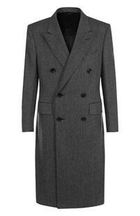 Двубортное пальто из смеси шерсти и кашемира Tom Ford 2501464