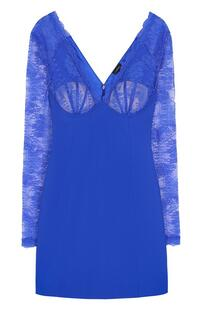 Приталенное мини-платье с кружевным лифом La Perla 2476046