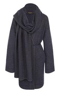 Пальто из смеси кашемира и шелка с поясом Loro Piana 2453602