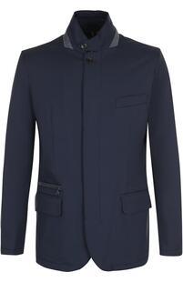 Утепленная куртка на молнии с замшевой отделкой Loro Piana 2385391