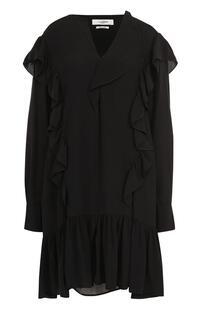 Мини-платье свободного кроя с оборками ISABEL MARANT ÉTOILE 2369721