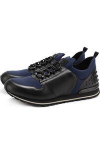 Комбинированные кроссовки на шнуровке Tod's 2311116