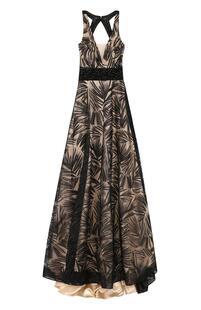 Платье-макси с подолом и открытой спиной BASIX BLACK LABEL 2218604