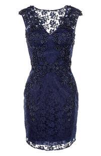 Приталенное мини-платье с вышивкой BASIX BLACK LABEL 2218575