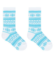Гольфы Эвантюэль Скандинавия, цвет: белый/голубой 8801689