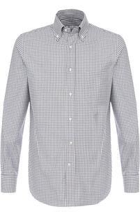 Хлопковая рубашка с воротником button down Loro Piana 2445548