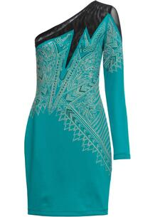 Платье на одно плечо со стразами bonprix 256110010