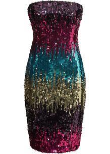 Платье бандо с пайетками bonprix 254502712