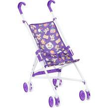 Коляска-трость для кукол MelogoMelobo фиолетовая с мишками 55 см 361472