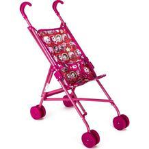 Коляска-трость для кукол MelogoMelobo красно-розовая с бабочками 55 см 2518778