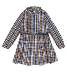 Платье Friendly People, цвет: коричневый/синий 10158432