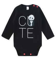 Боди Bossa Nova Panda baby, цвет: черный 9984975
