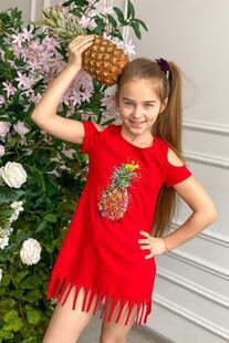 Платье детское Ананас (красное) Инсантрик 39900